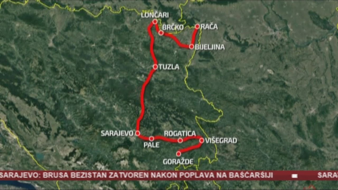 Trasa Buduce Brze Ceste Sarajevo Beograd Nece Ici Preko Tuzle