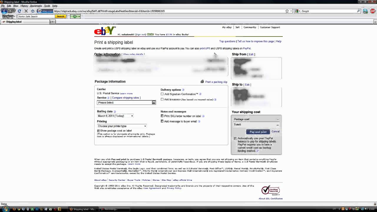 fb0716e5069 How to Get Shipping Information on Ebay - YouTube