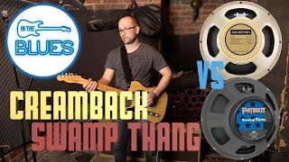 Celestion G12 M Creamback vs Emincence Swamp Thang Speaker