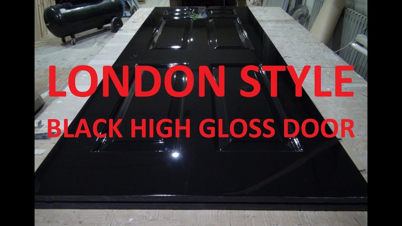 Black high gloss doors London shiny as number 10\'s style, high gloss ...
