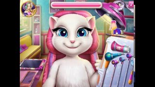 Говорящая кошка Анджела. Кошка Анджела у Дантиста. Игры больница.Игры для девочек.Мультик для детей