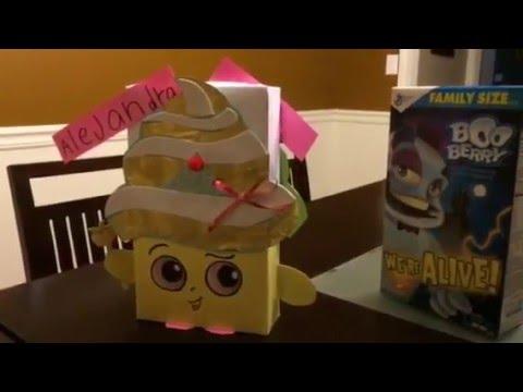 shopkins valentines box cupcake queen super easy youtube - Cupcake Valentine Box