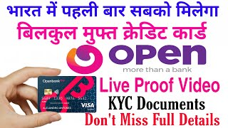 Open Bank Free Credit Card Apply | Onen Bank Account online Open | open Money KYC Documents Only