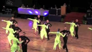 "BYU Youth Dancesport ""Drop That Beat"" Latin Formation Medley 2015"