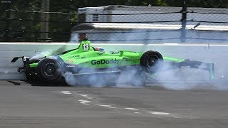 IndyCar - Indianapolis 500 - 2018 - Crash Compilation