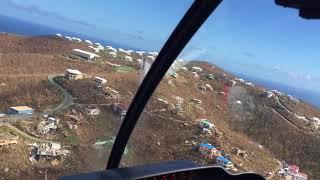 9/17/17 Aerial Footage Cruz Bay to Gift Hill area St John USVI after Hurricane Irma
