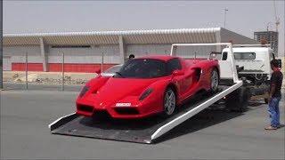 Unloading a Ferrari Enzo off recovery truck in Dubai!!