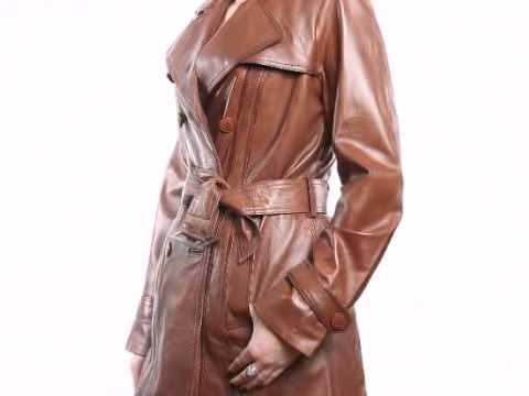 women leather coats belted,3/4 length leather coats,ladies leather ...