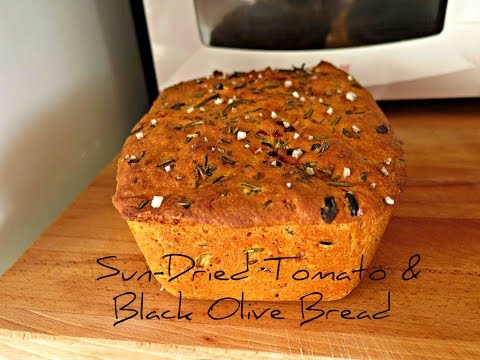 How To Make Sun-Dried Tomato & Black Olive Bread - Stop Motion Cookery