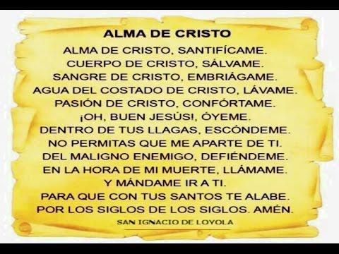 Resultado de imagen para oracion de san ignacio de loyola alma de cristo