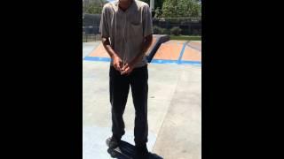 Old man skateboard tricks - kick flip, sisi pop