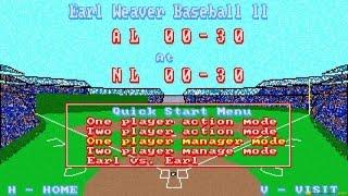 Earl Weaver Baseball 2 gameplay (PC Game, 1991)