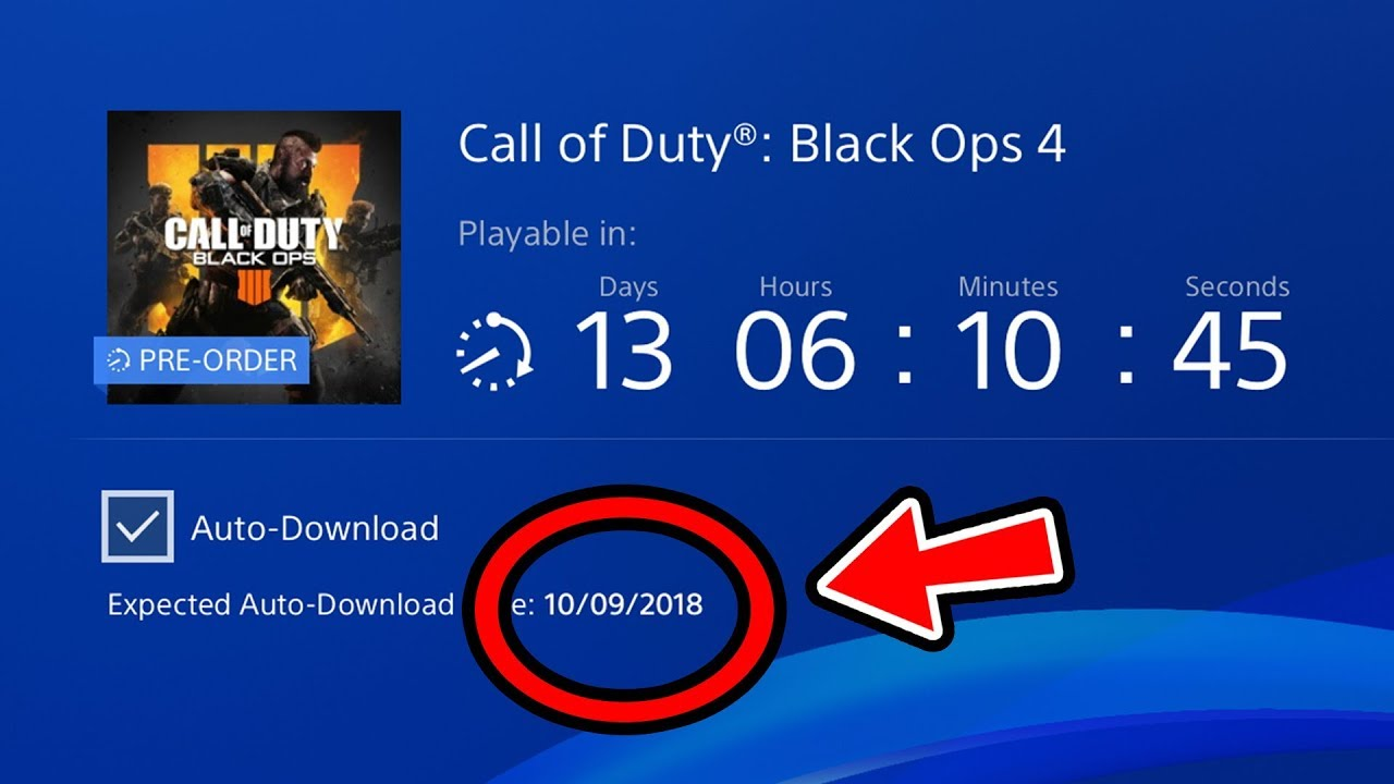 Black ops 4 zombies release date/time update (pre-download.