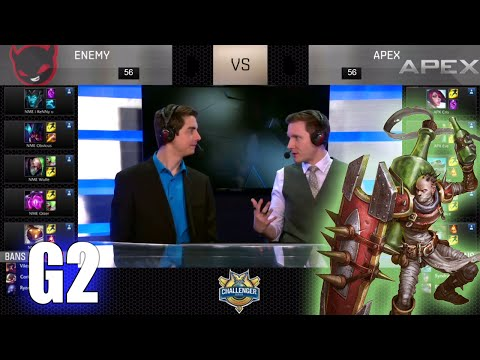 Enemy vs Apex (w/ Keane & Xpecial) Game 2 | Week 2 S6 NACS Spring 2016 | NME vs APX G2 W2