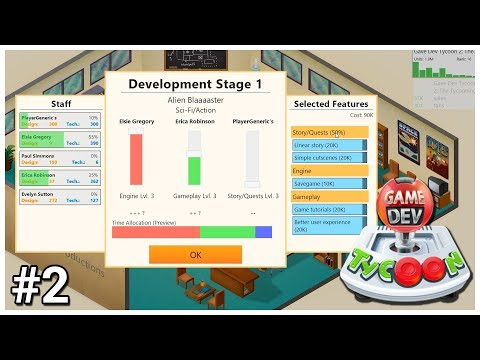 Game Dev Tycoon - #2 - Balance the Work - Let's Play / Gameplay / Construction