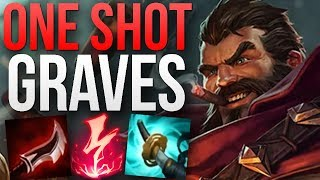 ONE SHOT GRAVES PENTAKILL GAMEPLAY | CHALLENGER GRAVES JUNGLE GAMEPLAY | Patch 8.15 S8