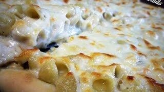 Pasta With White Sauce Pizza