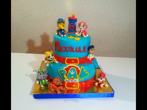 Торт ЩЕНЯЧИЙ ПАТРУЛЬ Сборка и украшение торта Cake Puppy PATROL assembly and decoration of the cake