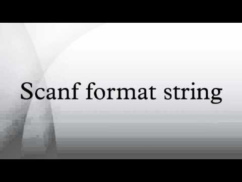 Scanf format string