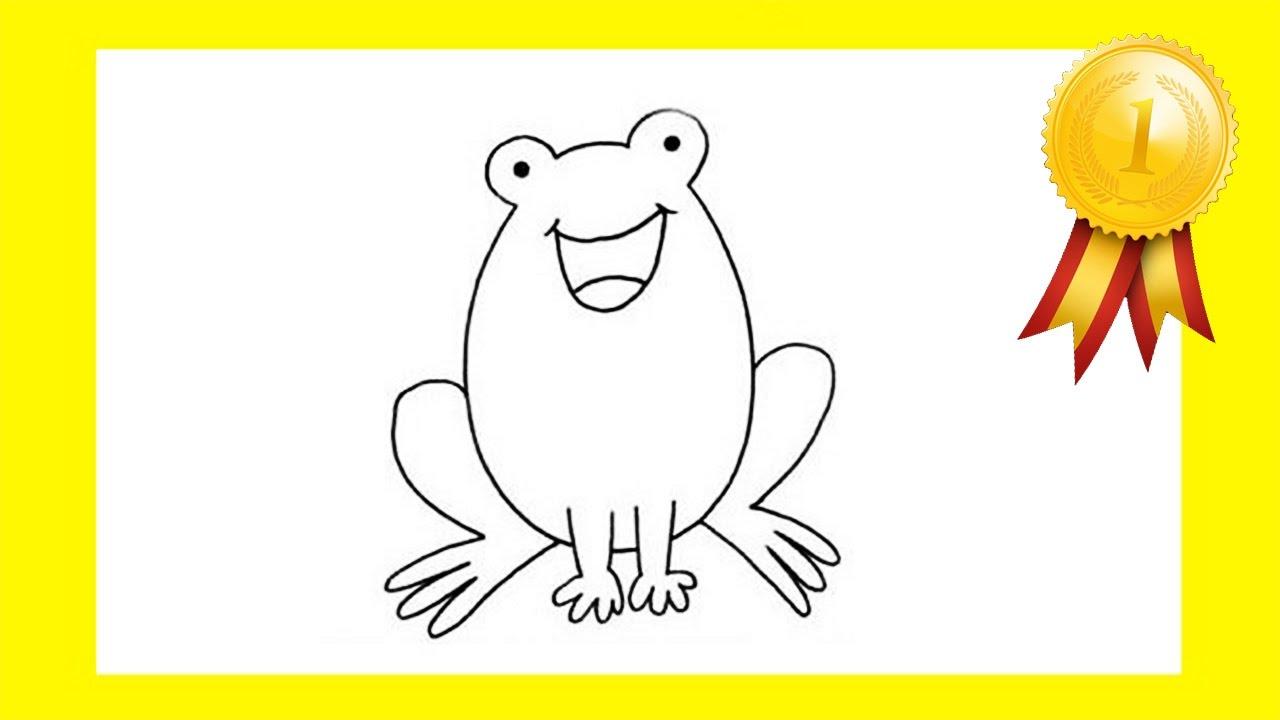 Basit Hayvan çizimi Kurbağa Youtube