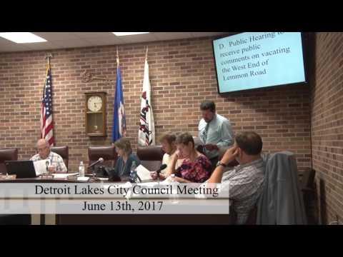 City of Detroit Lakes June 2017 Council Meeting