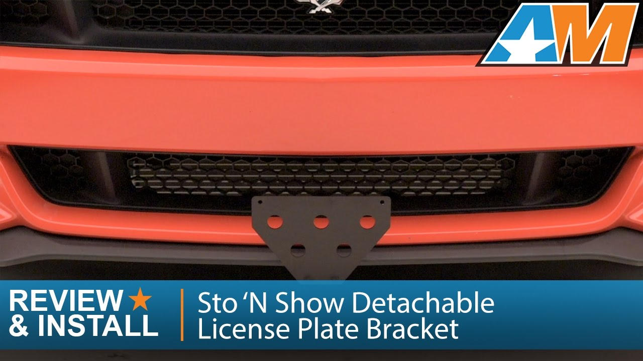 2017 Mustang Sto N Sho Front License Plate Bracket Review Install Gt V6 Ecoboost You