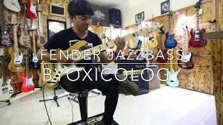 Gitar Bass Fender Jazzbass tobbaco burst 5 St Custom