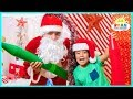 Ryan Learn Colors With Giant Crayons In The Christmas Box Fort Maze With Santa Claus mp3