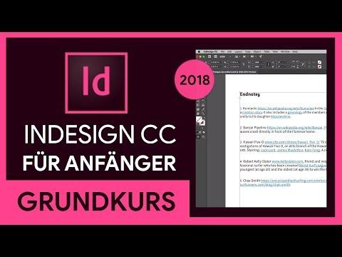 Adobe Indesign Cc 2018 Grundkurs Für Anfänger Tutorial