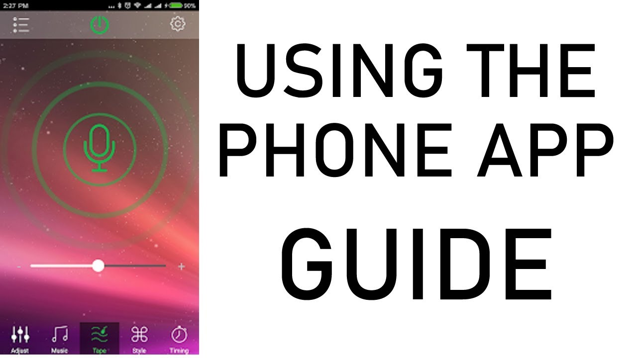 demo guide connecting and using the happylighting app