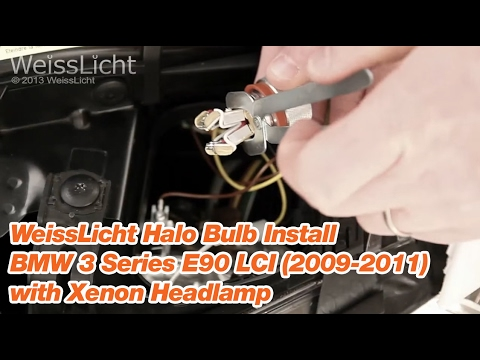 Replace Change Low Beam Headlight On 2011 Bmw 328i E90