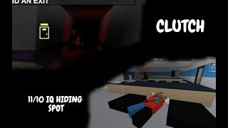 ROBLOX IQ HIDING SPOT + CLUTCH w/ThatHatGuy88 I Flee the facility, ROBLOX