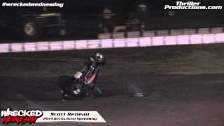 Wrecked Wednesday 8 Scott Reneau flips at Devils Bowl Speedway in 2014