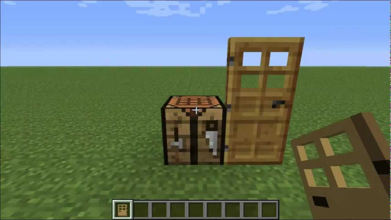 how to put a door in minecraft