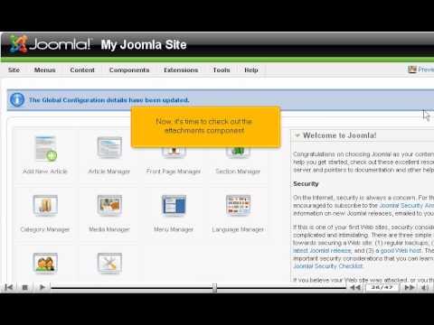 how to enable article attachments in joomla joomla tutorials youtube rh youtube com Ejercicios De Espanol Espanol Santillana 3