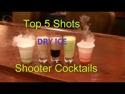 Top 5 Shot Drinks Shooter Cocktails Top Five Dry Ice Smoking Shots