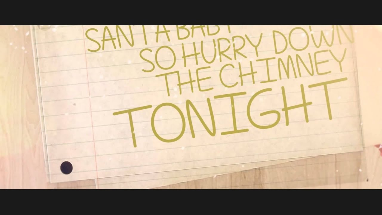Santa Baby - Megan Nicole (lyric video)