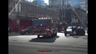 Chicago Fire Department Engine 42 & Truck 3 Responding
