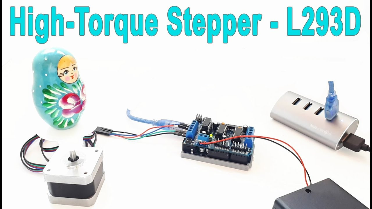 L293d Motor Shield Upgrade For The High Torque Stepper Youtube 4 Wire Wiring Harness