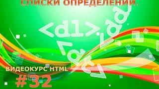 Списки определений. HTML-теги dl, dt и dd. #32