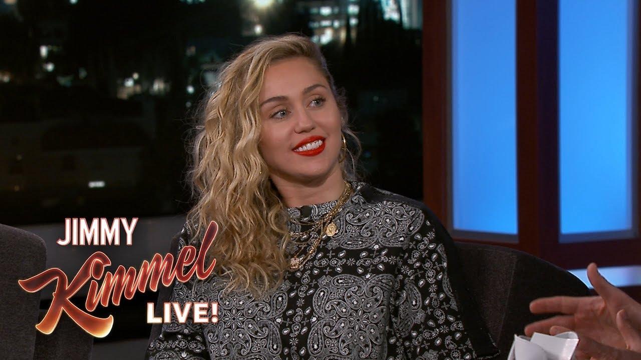 b28184353dc142 Miley Cyrus on Smoking Pot   Liam Hemsworth Scaring Her. Jimmy Kimmel Live