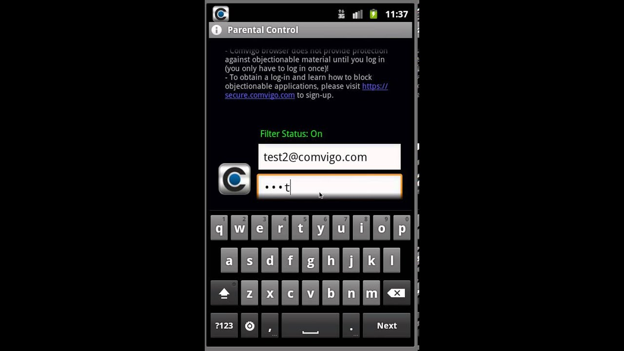 How to filter internet on android