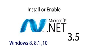 Dot Net 3.5 Install or Enable …