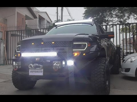 AutosLed: Barra LED curvo 4D 50 chip Cree - Ford Raptor 2014