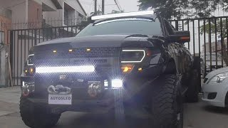 "Barra LED curvo 4D 50"" chip Cree - Ford Raptor 2014"