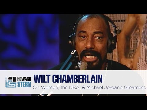 Wilt Chamberlin refers to 90's basketball as being 'diluted' in this interview with Howard Stern