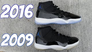 JORDAN 11 SPACE JAM 2016 VS 2009 (@SCOOP208)