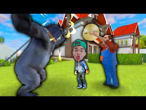 ThắnG Tê Tê Troll Thả Con Khỉ Đột Đánh Ông Hàng Xóm Chạy Bỏ Cả Quần Áo | Scary Stranger 3D
