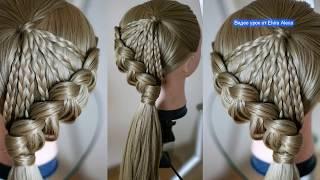 Детская причёска из кос  Очень ПРОСТО   Hair tutorial