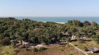 Esperanto Lodge en Casamance à Kafountine, vu du ciel